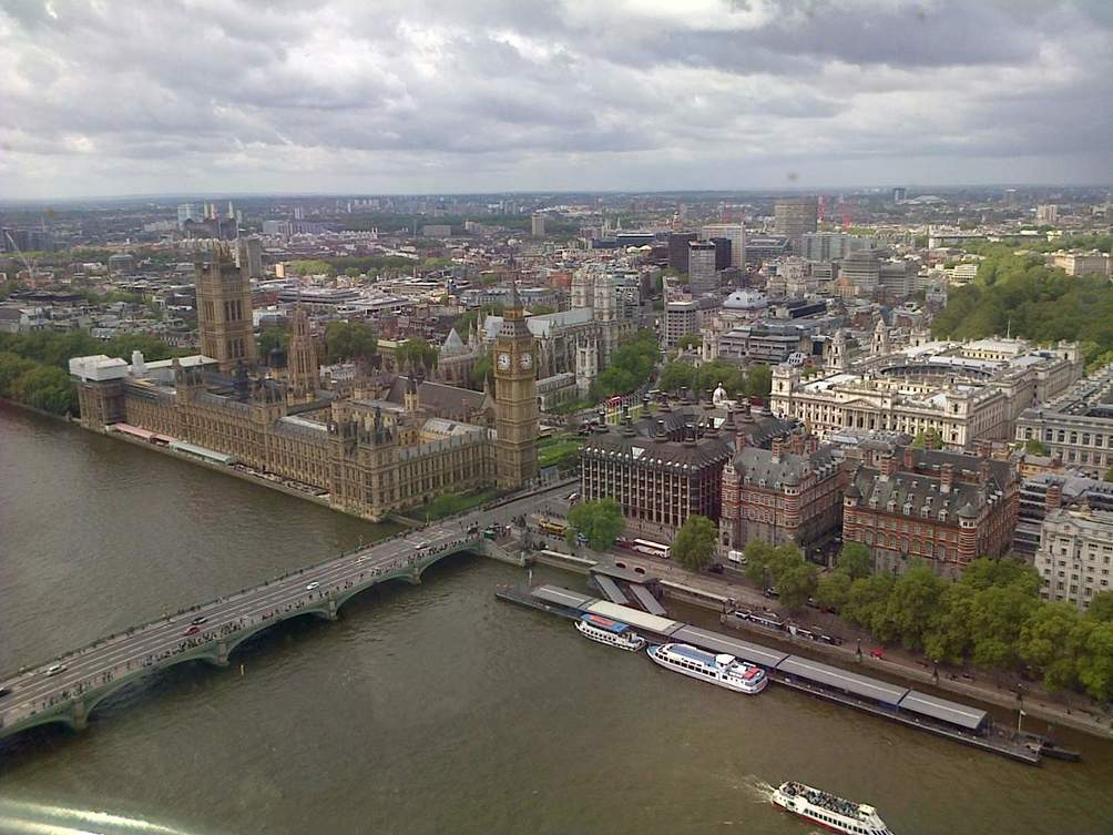 Vue du London eye